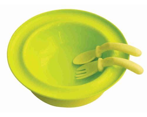 Набор LUBBY арт5523 тарелка с присоской + ложка + вилка от 6 мес 250мл полипропилен