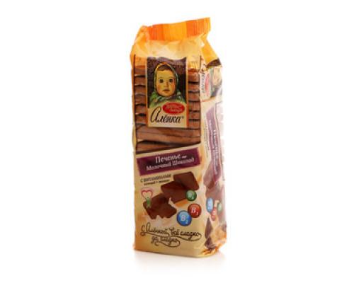 Печенье сахарное Алёнка вкус Молочный шоколад с витаминами  ТМ Красный Октябрь