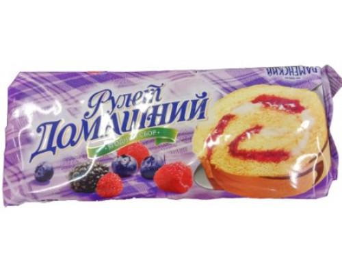 Рулет домашний Раменский, ягодный сбор, 150 г