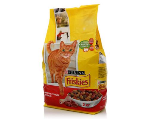 Корм для кошек с мясом, курицей, печенью ТМ Friskies (Фрискис)