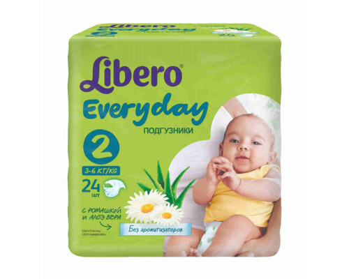 Подгузники Libero Everyday Mini 3-6кг 24шт