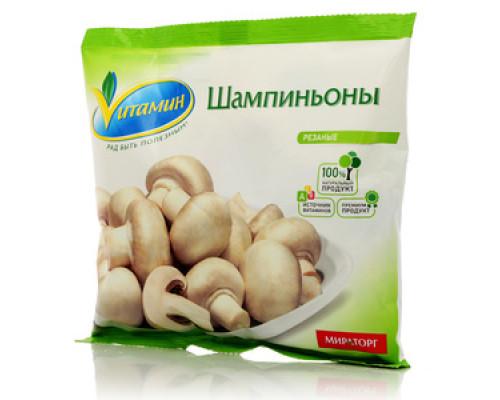 Шампиньоны резаные свежезамороженные ТМ Vитамин (Витамин)