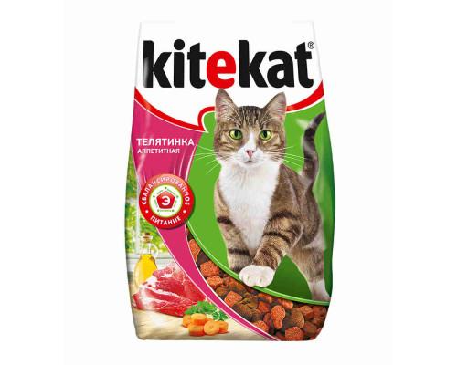 Корм для кошек Kitekat аппетитная телятинка сухой 1,9кг