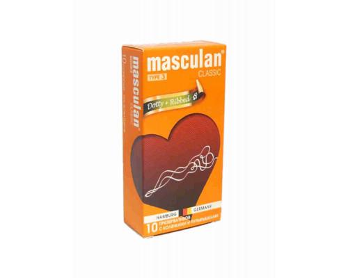 Презервативы Masculan 3 с колечками и пупырышками 10шт
