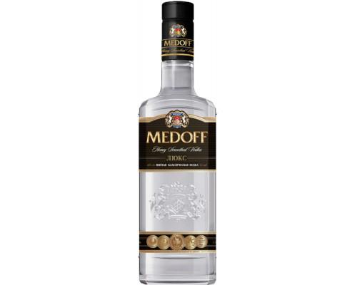 водка медофф Люкс 40% 0,5 л.