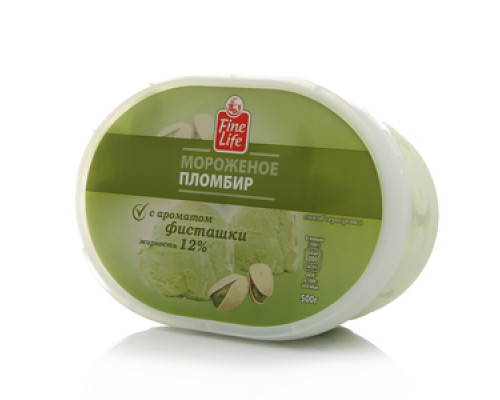 Мороженое пломбир с ароматом Фисташки 12% ТМ Fine Life (Файн Лайф)