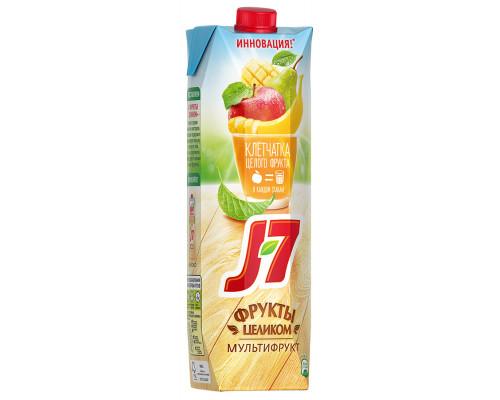 Нектар ТМ J7 (Джей Севен) Фрукты целиком, мультифруктовый с мякотью, 0,97 л
