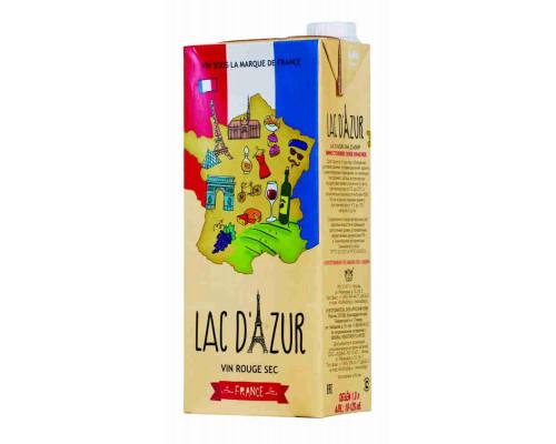 Вино LAC D` AZUR столовое сухое красное 10,0-12,0 %, 1л