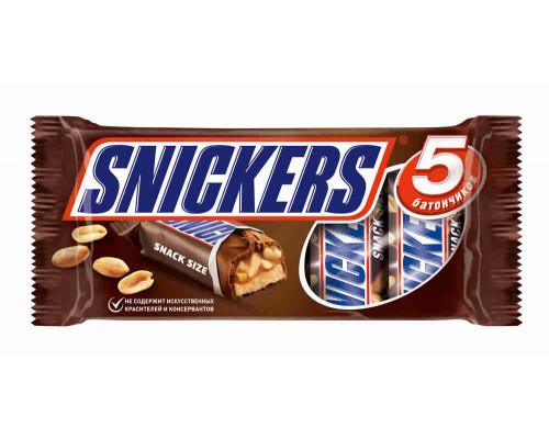 Батончик шоколадный Snickers 5х40г мул/п