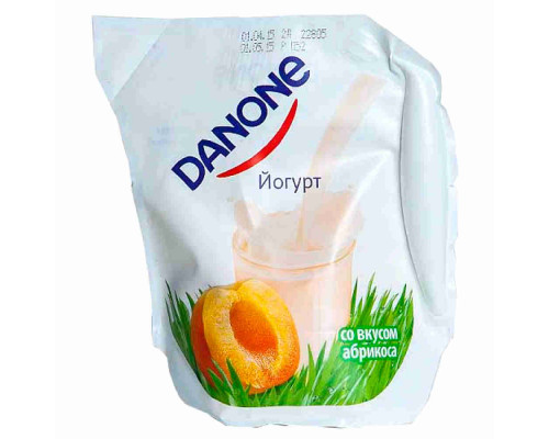 Йогурт питьевой ТМ Danone, абрикос 1,5%, 900 г