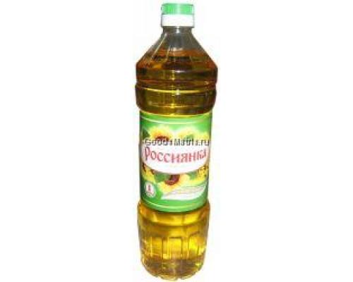 Масло подсолнечное ТМ Россиянка, ароматное, нерафинированное, 1 л