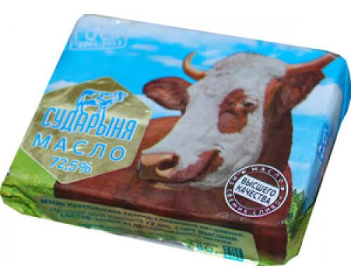 Масло крестьянское сладко-сливочное 72,5% ТМ Сударыня