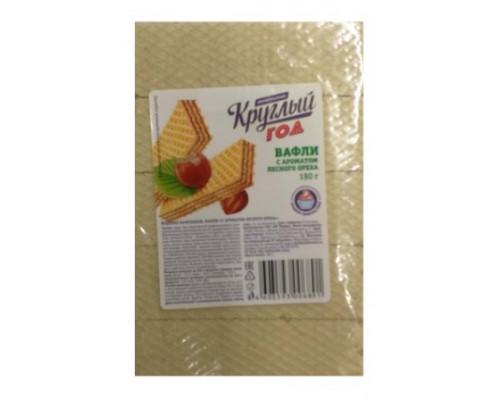 Вафли Круглый Год Аппетитно с ароматом лесного ореха, 180 г