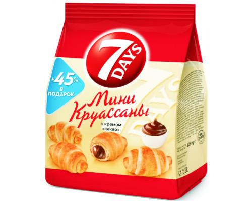 Мини-круассаны ТМ 7Days (7 дней) с кремом Какао, 105 г