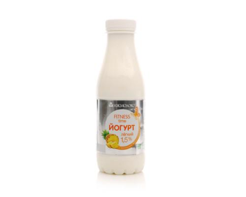 Йогурт лёгкий питьевой 1,5%  Fitness Time (Фитнес Тайм) с ананасом ТМ Ижмолоко