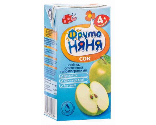 Сок ФрутоНяня яблоко осветленный с 4мес 200мл т/п