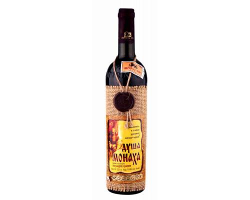 Вино столовое Душа Монаха п/сл красное 12% 3,0л