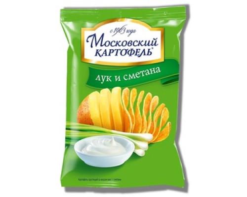 Чипсы ТМ Московский картофель, картофельные с луком и сметаной 70 г