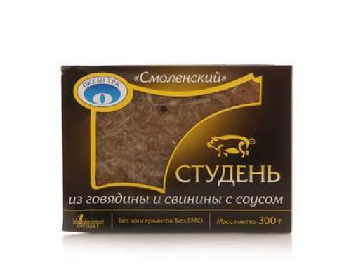 Студень из говядины и свинины с соусом Хрен Смоленский ТМ Океан ТРК