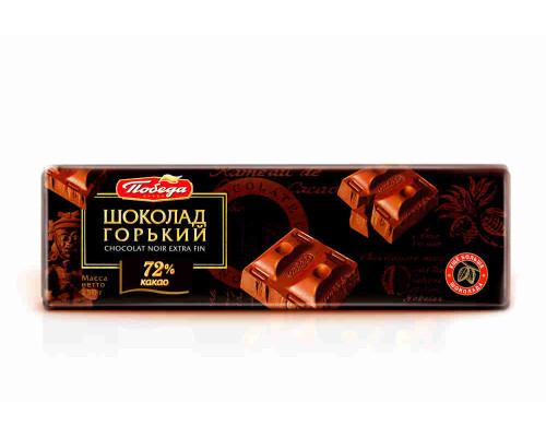Шоколад горький Победа 72% какао 250г