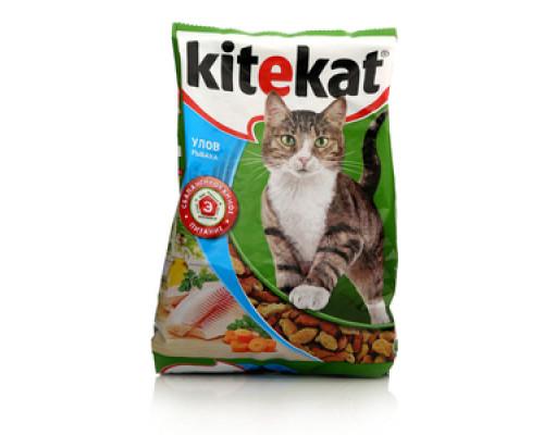Корм сухой для кошек Улов рыбака ТМ Kitekat (Китекат)
