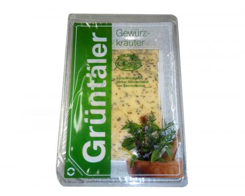 Сыр ТМ Gruntaler (Грюнталер) с пряными травами, 50%, 150 г
