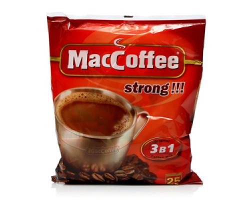 Напиток кофейный растворимый (3 в 1) strong 25 пакетиков ТМ MacCoffee (МакКофе)