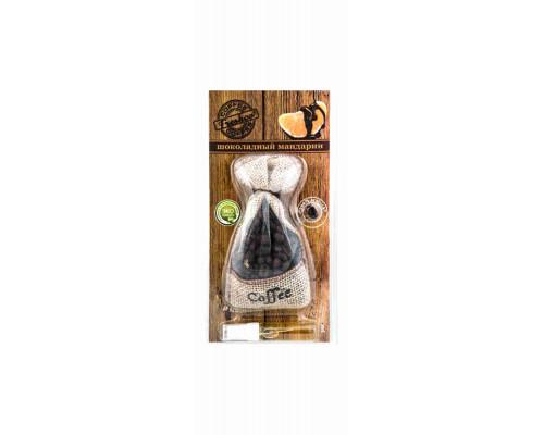 Ароматизатор Freshсo Coffee подвесной мешочек вишня с миндалем/шоколадный мандарин артYCF-03/YCF-08