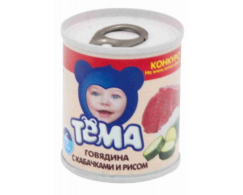 Пюре Тёма говядина/кабачок/рис с 6мес 100г ж/б