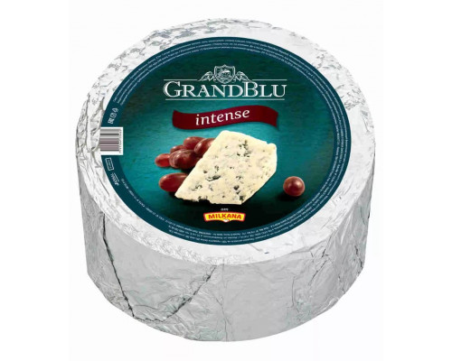 Сыр GrandBlu intense ТМ Milkana (Милкана), с голубой плесенью, 56%