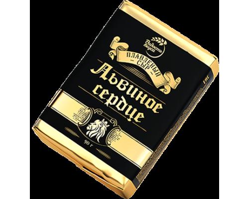 Сыр Львиное сердце ТМ Радость вкуса, плавленый, 50%, 90 г