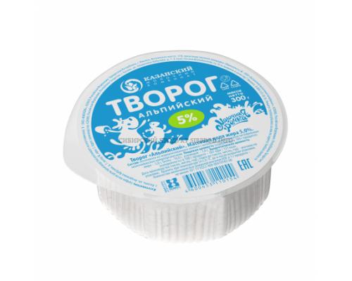 Творог Альпийский ТМ Молочная речка, 5%, 300 г