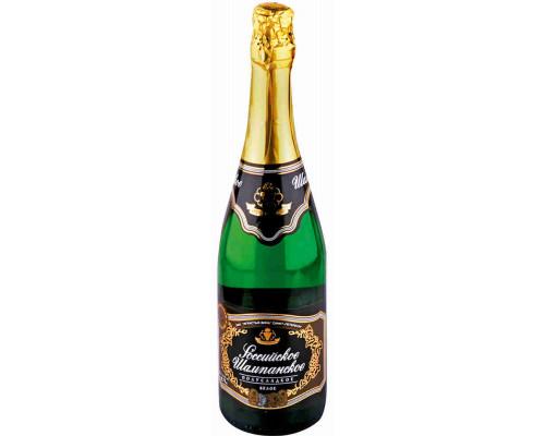 Шампанское Российское бел п/сл 0.75л 10.5%-13%