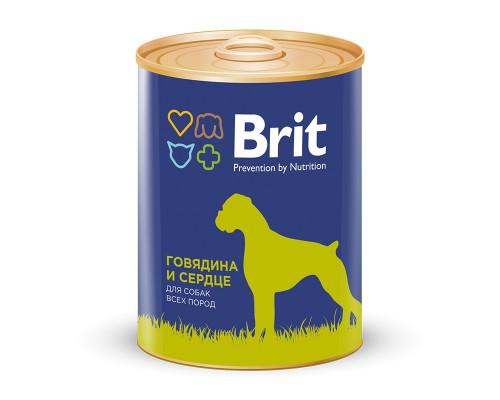 Корм для собак всех пород BRIT говядина и сердце, 850 г