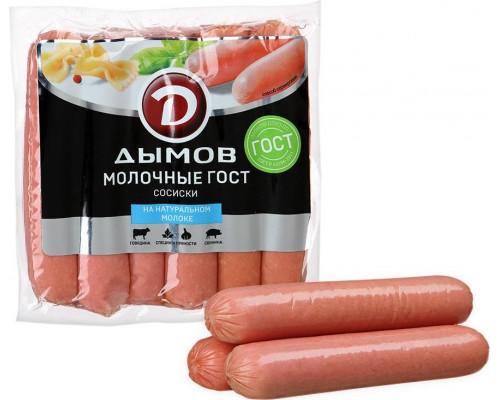 Сосиски ТМ Дымов Молочные ГОСТ 580 г