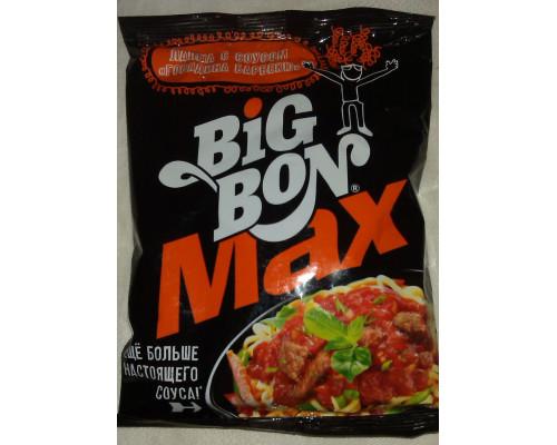 Лапша ТМ Big Bon (Биг Бон) Max с соусом Говядина Барбекю, 95 г