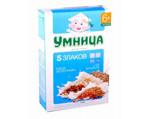 Каша Умница Молочная из пяти злаков с 6 мес 200г