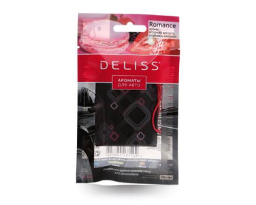 Освежитель воздуха cсаше подвесной для а/м Romance Ягодный десерт/клубника/земляника ТМ Deliss (Делисс)