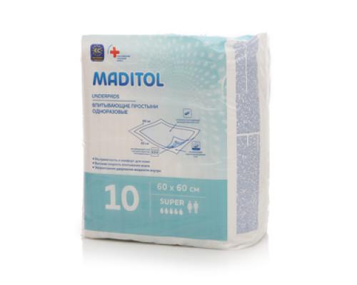 Впитывающие простыни ТМ Maditol (Медитол)