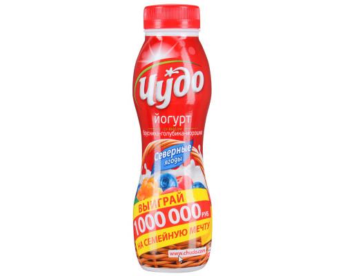 Йогурт питьевой ЧУДО северные ягоды 2,4% 270 г