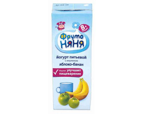 Йогурт питьевой ФрутоНяня яблоко/банан 2,5% 200мл
