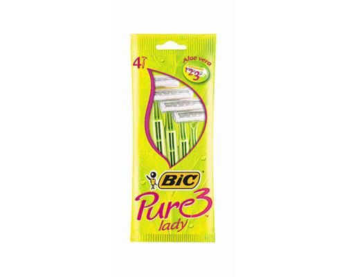 Станок д/бритья BIC Pure 3 lady одноразовый 4шт