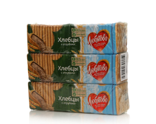 Хлебцы с отрубями 3*185г ТМ Любятово