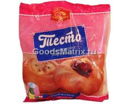Тесто дрожжевое ТМ Черемушки, для домашних пирожков и булочек, быстрозамороженное, 600 г