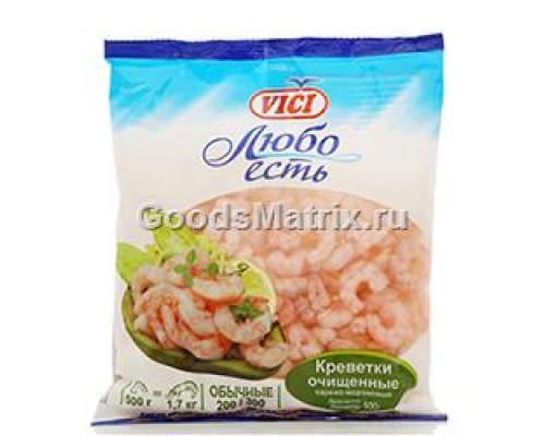 Креветки 200/300 Vici (Вичи), очищенные варено-мороженые 500 г