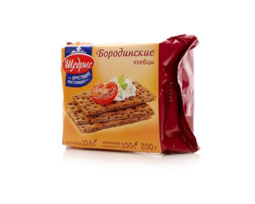 Хлебцы ТМ Щедрые, Бородинские 200 г