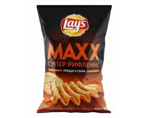 Чипсы ТМ Lay`s Max, пицца 4 сыра, 145 г