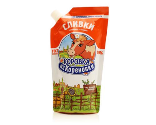 Сливки сгущенные с сахаром 19% ТМ Коровка из Кореновки