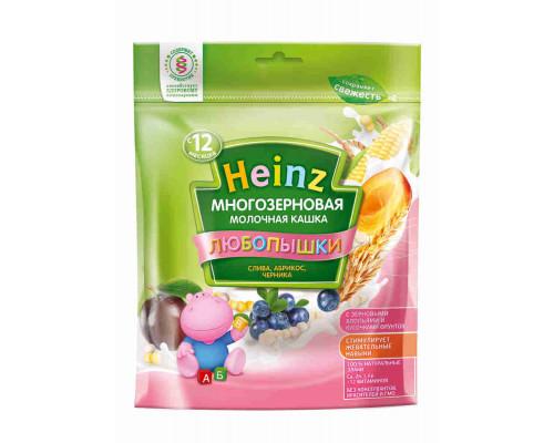Кашка фруктово-молочная Heinz Любопышки многозерновая слива/абрикос/черника 200г