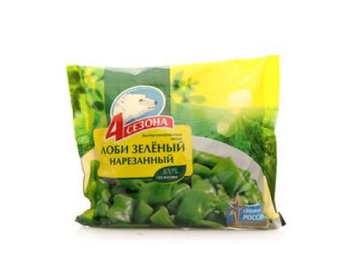 Лоби зеленый нарезанный замороженный ТМ 4 сезона